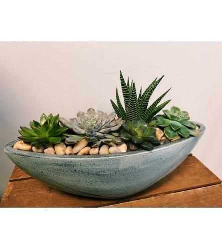 Sky Blue Succulent Planter