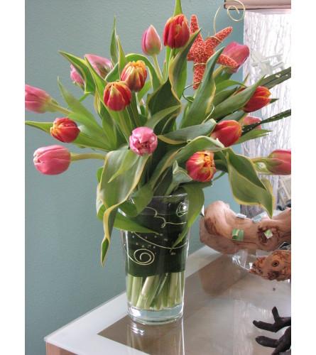 Spiraling Tulips