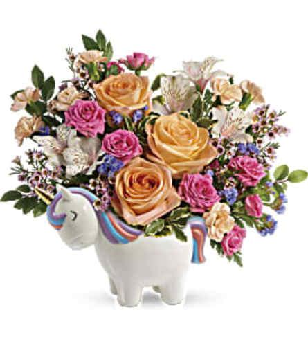 Magical Garden Unicorn by Teleflora Flowers