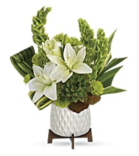 Teleflora's Artistic Angles Arrangement