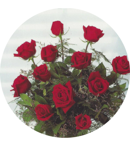 Bergerons Dozen Red Roses