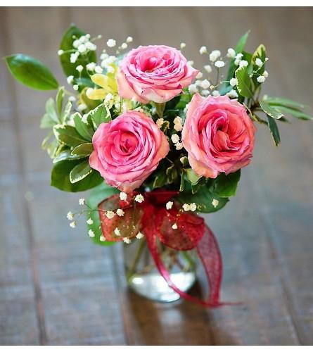 Short Stemmed Pink Roses