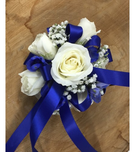 Navy Corsage