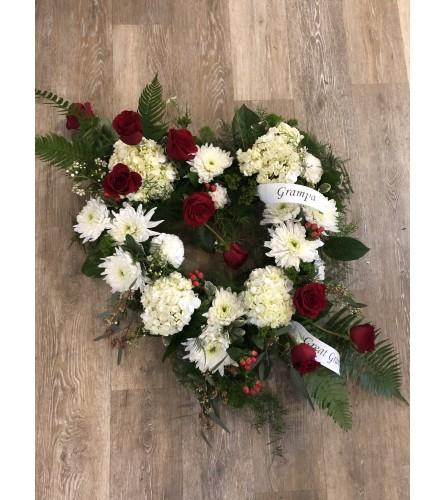 Eternal Love Open Heart Wreath