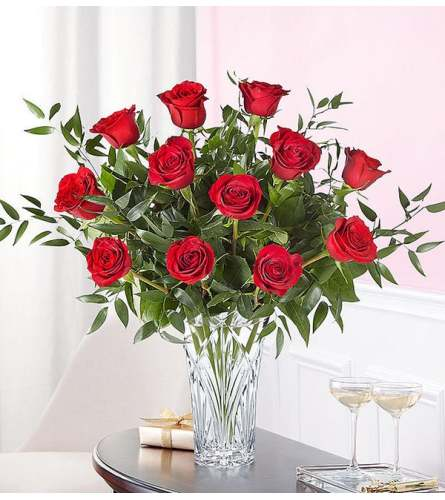 Marquis by Waterford® 12 Premium Long Stem Red Roses 2020