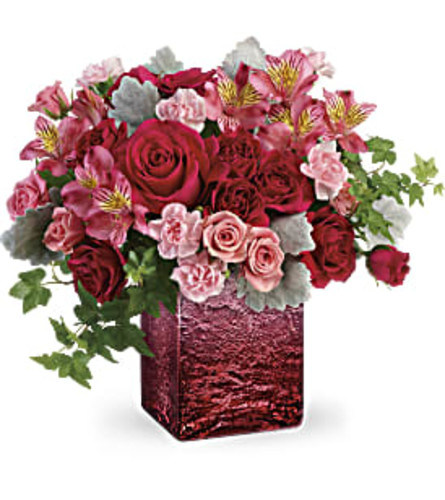 Shimmering Ombre Cube Bouquet