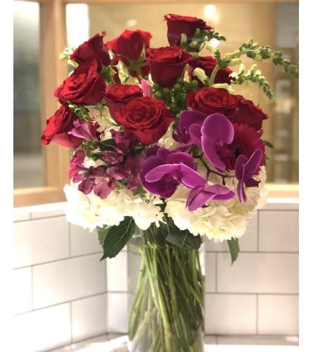 Elevated Dozen Roses @ Charming