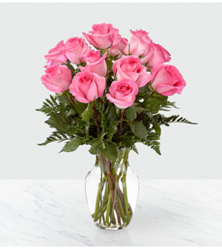 Smitten Pink Rose Bouquet FTD