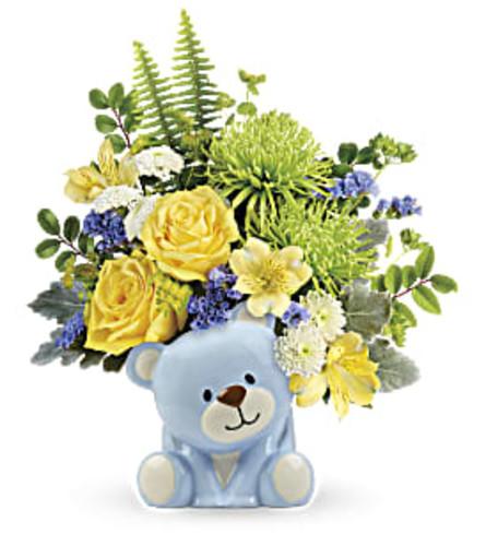 TELEFLORA'S JOYFUL BLUE BEAR