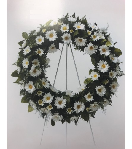 Large Wreath with Daisies