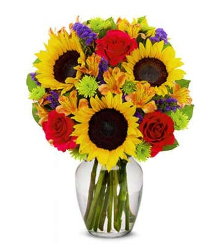 The Delightful Sunflower Bouquet
