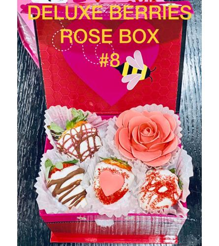 12Ct DELUXE ROSE BERRIES BOX