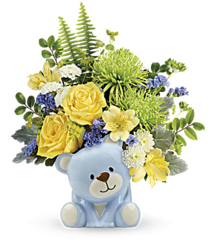 Welcome Baby Blue Bear