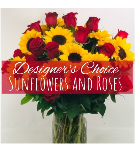 Roses and Sunflowers Florist Design