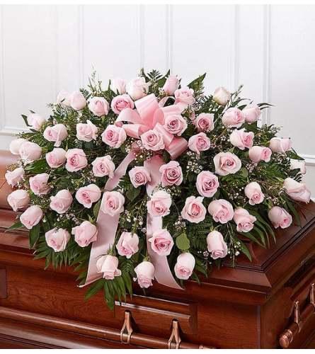 Half Casket- Pink Roses