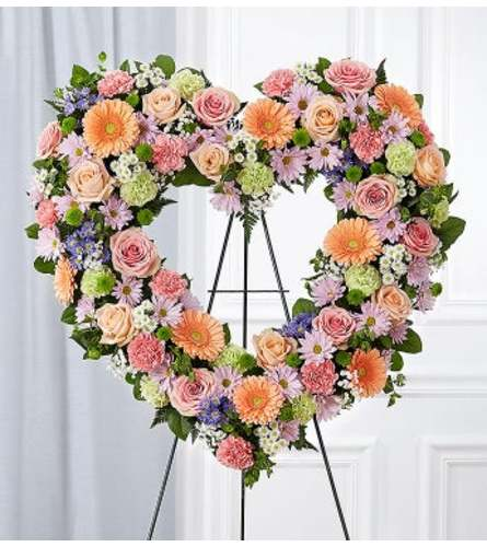 Open Heart Wreath Pastel