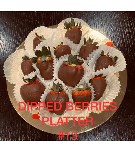 12Ct DIPPED BERRIES PLATTER