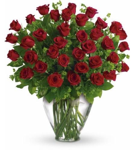 Three Dozen Red Roses Arranged