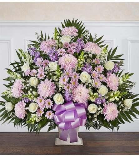 Funeral Floor Basket Lavender