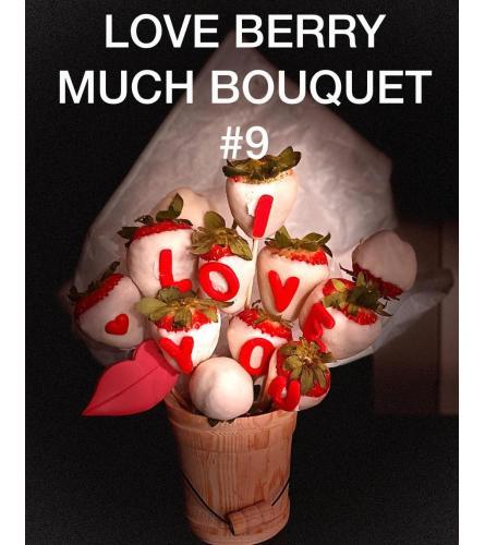 12Ct LOVE BERRY MUCH BOUQUET
