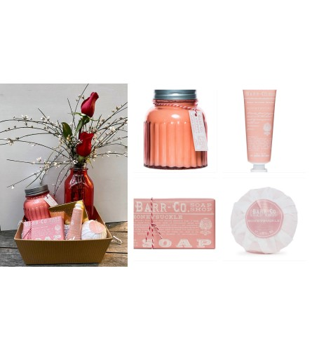Barr Soaps-Honeysuckle Gift Tray