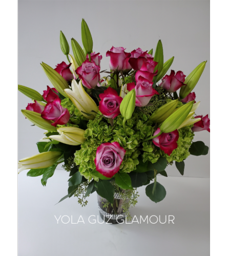 Luxurious Roses and Lilies