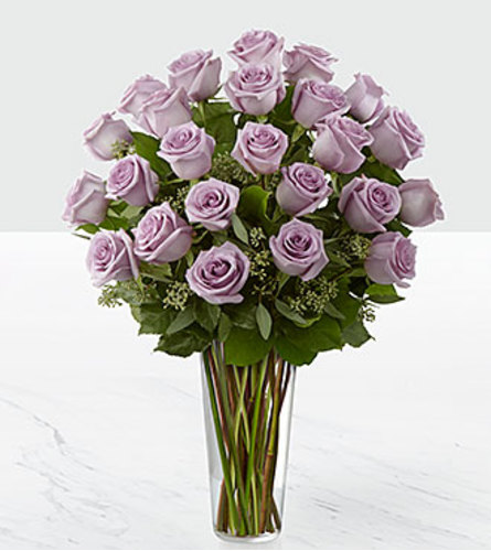 2 DOZEN PURPLE ROSES ARRANGED