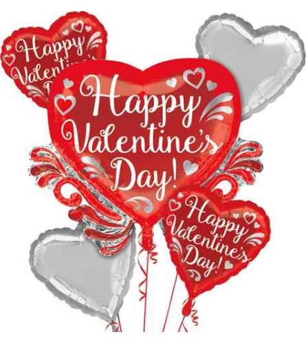 Valentine Fancy Swirls Balloon Bouquet