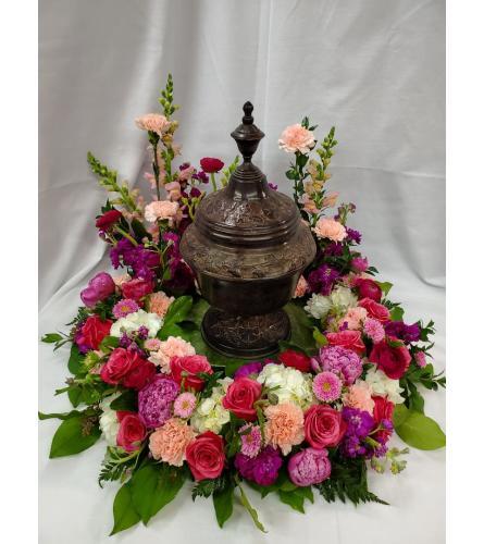 Pastel Floral For Urn