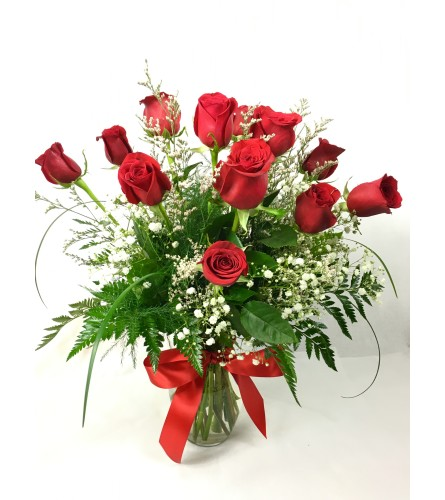 Sweet Talk with 12 red roses