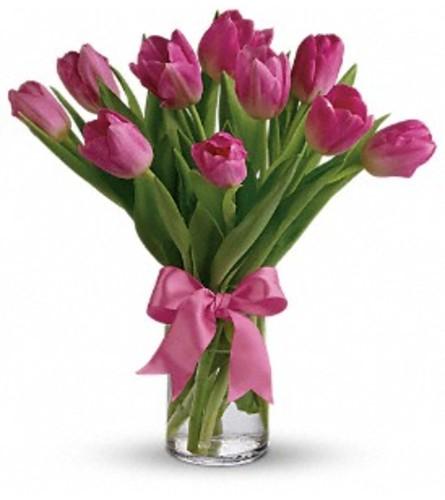Precious Pink Tulip Bouquet