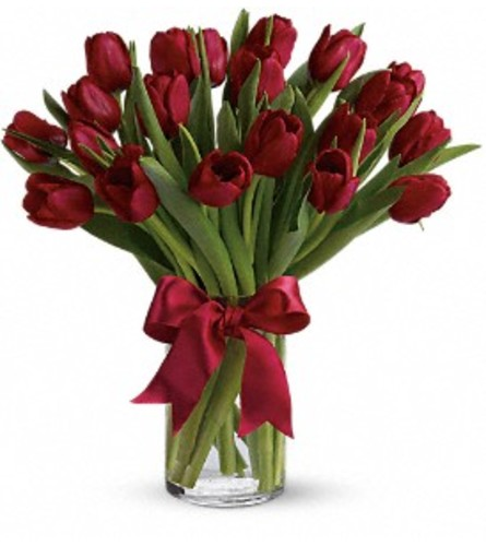 Radiantly Red Tulip Bouquet
