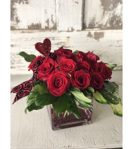Elegant Rose Cube