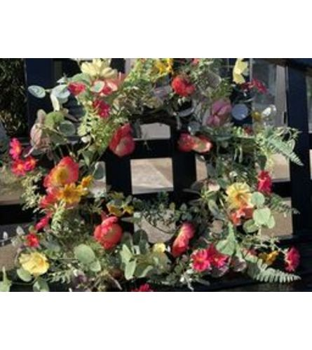 Spring Poppy Flower Wreath