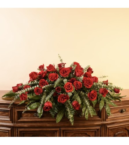 Red Rose Casket Sprray