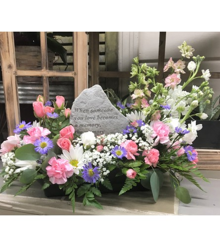 Sympathy Design with Memorial Plaque