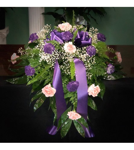 Casket Spray Of Carnations (Can Be Any Color)1