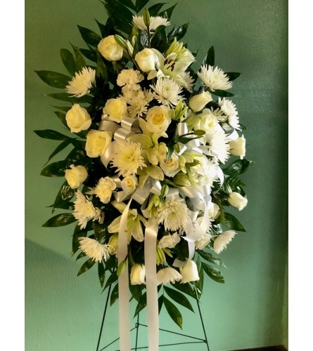 Funeral Standing Spray (White)