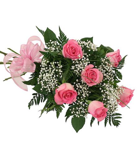 Elegant Six Pink Roses
