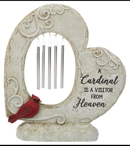 Cardinal Memorial Garden - Heart Windchimes Figurines