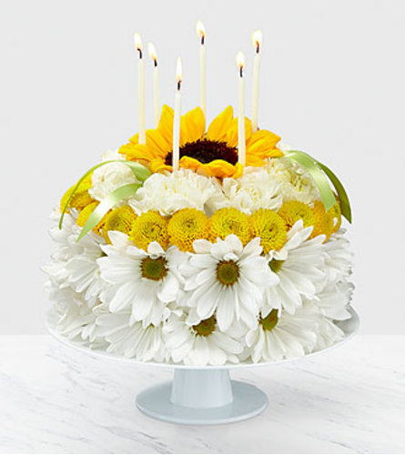 FTD Birthday Smiles Floral Cake