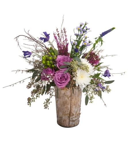 Birch garden vase