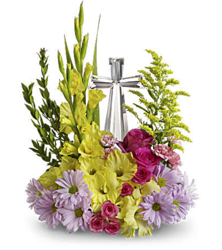 Teleflora's Easter Crystal Cross Bouquet