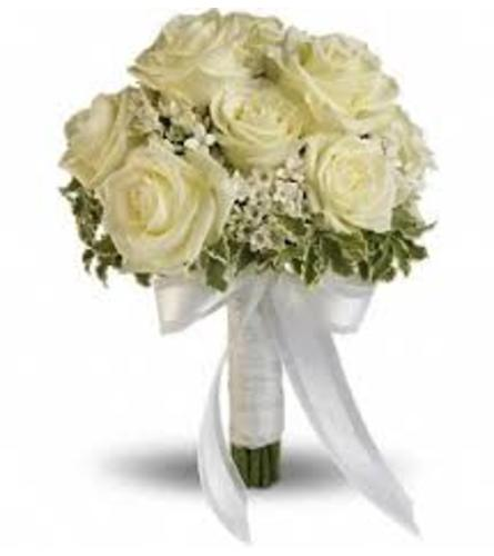 White Hand Held Bouquet