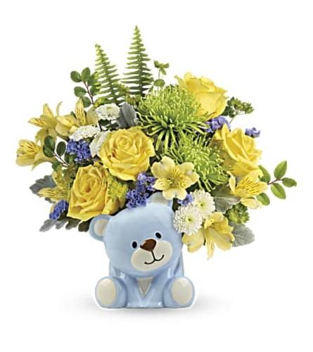 TF Joyful Blue Bear Bouquet