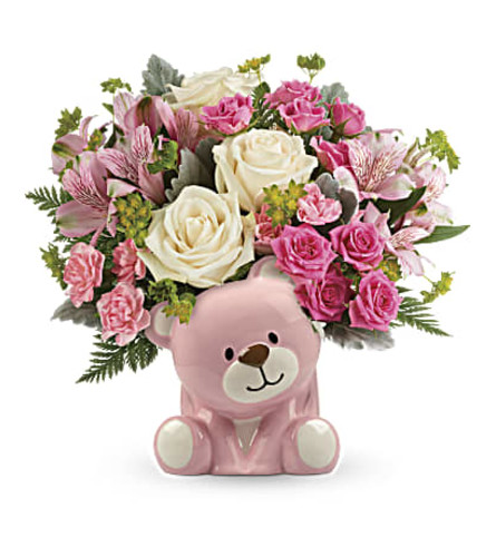 TF Precious Pink Bear Bouquet