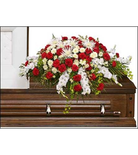 FSN-GRACEFUL RED CASKET SPRAY