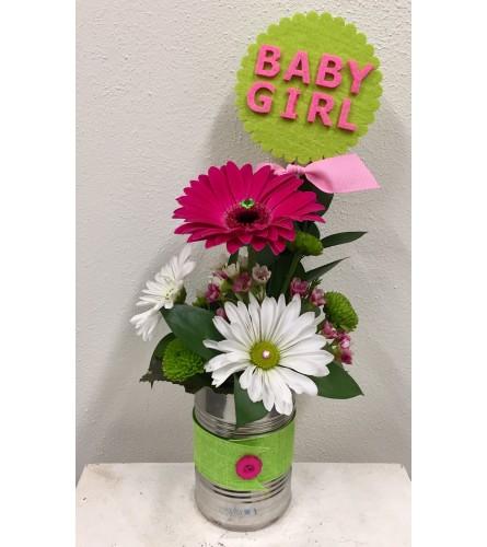 It's a Girl! Gerbera Can