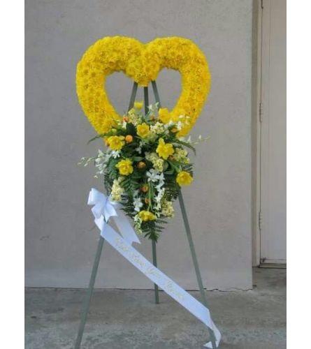 Yellow Splendor Heart