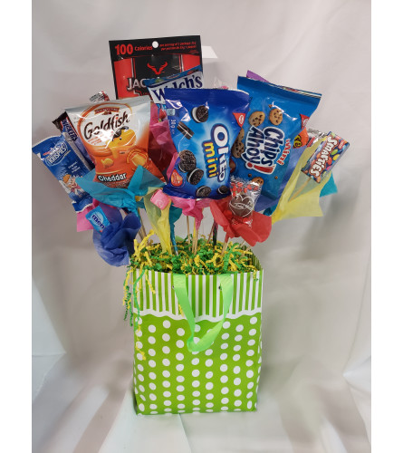 Gift bag candy bouquet